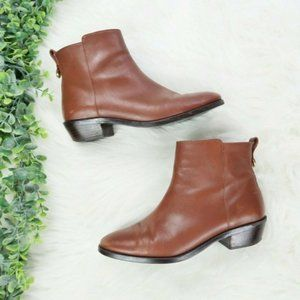 Coach Carmen Dark Saddle Leather Ankle Booties 8